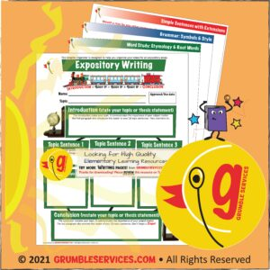 Writing Graphic Organizers Grumble Services Learning Resources grumbeservices.com
